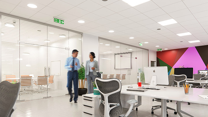 Energy-efficient lighting with presence detection reduces energy costs