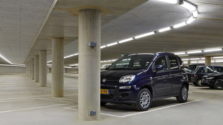 Pacific LED GreenParking-armatur – LED-belysning til parkeringshuse