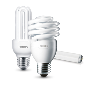 Philips CFL-pærer produktkollektion
